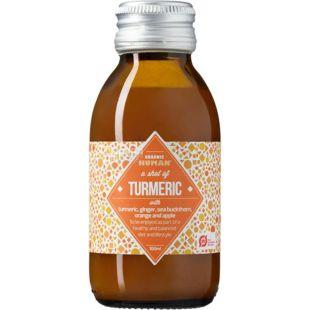 Organic Human, Shot of Turmeric, 0,1 л, Органик Хьюмен, Шот из куркумы, Напиток соковый, органический, стекло