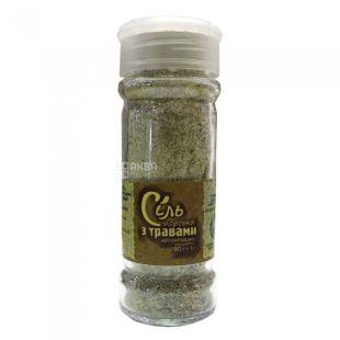 Living Earth Potutory, Sea salt with organic herbs, 90 g