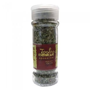 Seasoning Italian herbs organic, 15 g, TM Live Earth Potutory