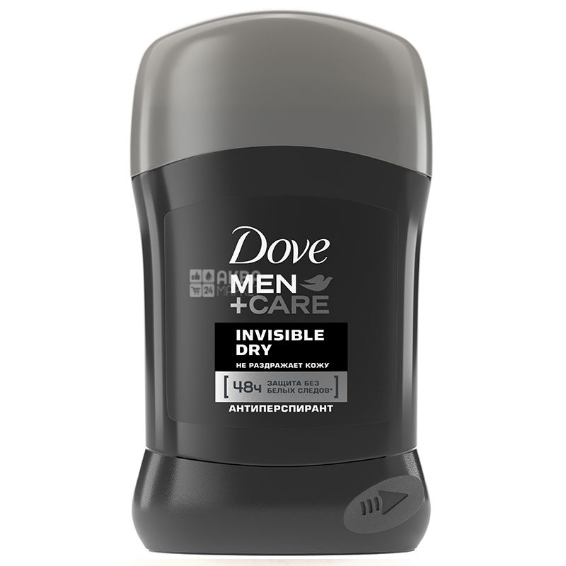 Dove Men, Care Invisible Dry, 50 мл, Дезодорант-антиперспірант, Сухий