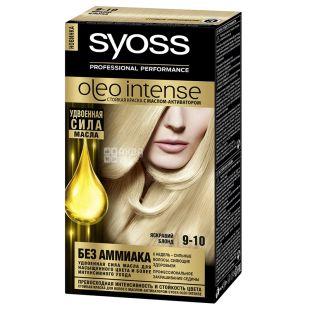 Syoss Oleo Intense, фарба для волосся, 9-10 яскравий блонд, з маслом-активатором, 115 мл