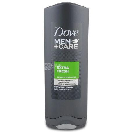 Dove Men+Care, Мужской гель для душа для тела и лица, Экстра Свежесть, 250 мл