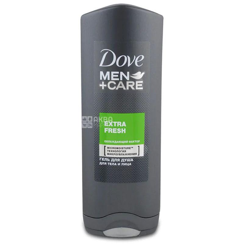 Dove Men + Care, 250 мл, Чоловічий гель для душу для тіла та обличчя, Екстра Свіжість