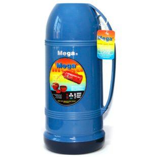 Термос вакуумний універсальний, синій, 0,5 л, ТМ Mega