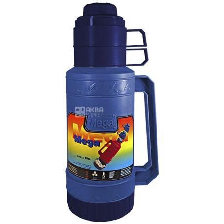 Thermos vacuum universal, blue, 2,05 l, TM Mega