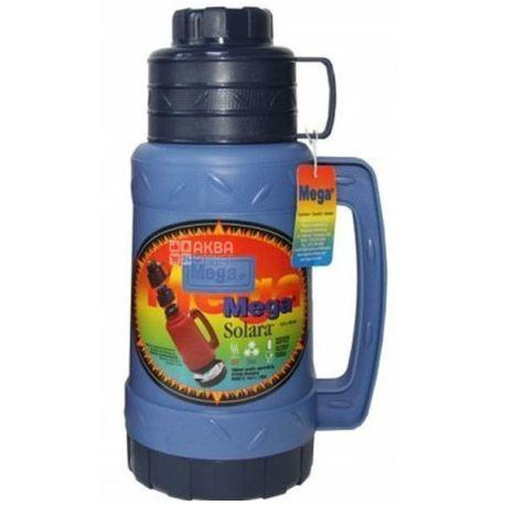Thermos vacuum universal, black and blue, 1.6 l, TM Mega