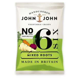 Chips vegetable mix, 40 g, TM John & John