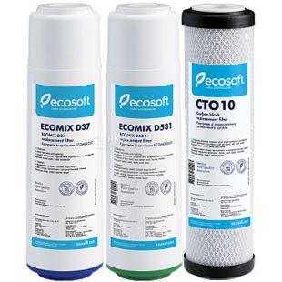 Ecosoft Набор улучшенных сменных картриджей для проточных фильтров, 3 шт.