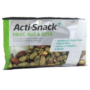 Смесь сушеных фруктов, орехов и сои, 40 г, ТМ Acti-Snack