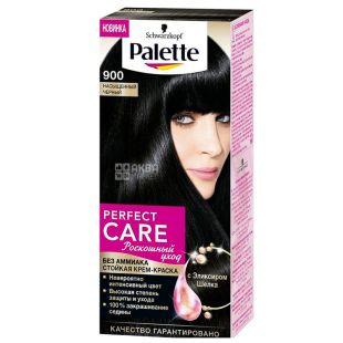 Palette Роскошный уход, Стойкая крем-краска для волос, 900 Насыщенный черный, 110 мл