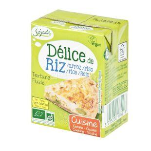 Sojade Delice Riz Cuisine Organic, 200 мл, Сояде, Рисові вершки, кулінарні, органічні, без глютену і лактози