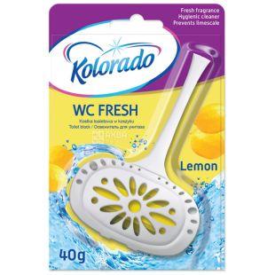 Брусок туалетний WC Fresh Лимон, 40 г, ТМ Kolorado