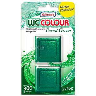 Таблетка для бачка унитаза зеленая, WC Color, 2 шт, ТМ Kolorado