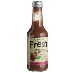 Natur Fresh, Raspberry Dream, Клубничный, 0,25 л, Натур Фреш, Смузи органический