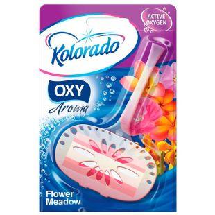 Kolorado, Трехфазный блок для туалета, Цветочная поляна Oxy Aroma Flower Meadow, 40 г