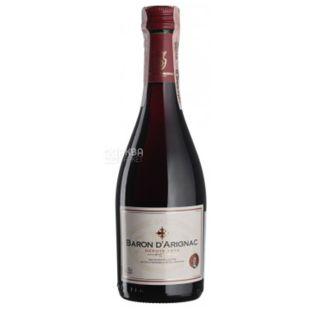 Baron d'Arignac, Rouge, Вино красное сухое, 0,25 л