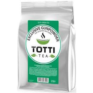 TOTTI Tea, Exclusive Gunpowder, 250 г, Чай Тотті, Ексклюзив Гандпаудер, зелений