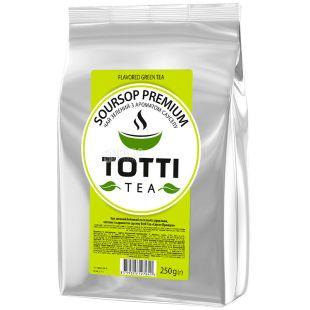 TOTTI Tea, Soursop premium, 250 г, Саусеп Преміум, зелений