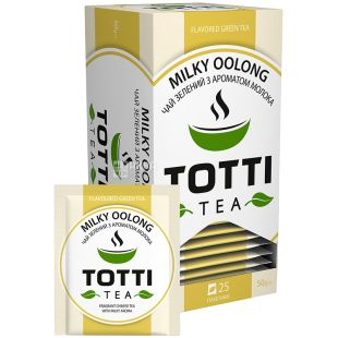 TOTTI Tea, Milky Oolong, 25 packs., Totti Tea, Milky Oolong Tea, Green