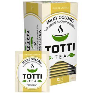 TOTTI Tea, Milky Oolong, 25 пак., Чай Тотті, Молочний улун, зелений