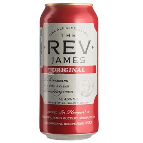 Пиво Reverend James, 0,44 л, ТМ Brains
