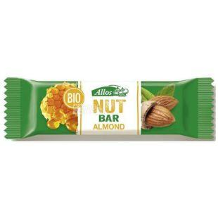 Organic Almond Bar, 30 g, TM Allos
