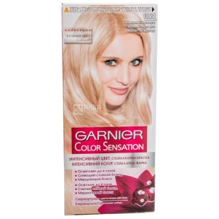 Garnier Color Sensation, краска для волос, жемчужный перламутр 10.21, 110 мл