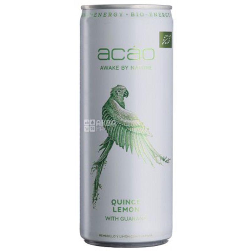 Acao Quince and Lemon, 0,25 л, Напиток энергетический Квинс энд Лемон, Айва-Лемон