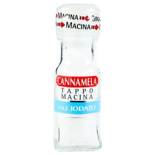 Cannamela, Сіль морська йодована, 63 г, млинок