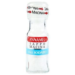 Cannamela, Соль морская йодированная, 63 г, мельница