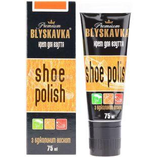 Крем для взуття з аплікатором, безбарвний, 75 мл, ТМ Blyskavka