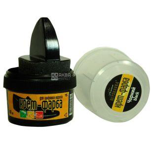 Крем фарба для взуття, стаканчик з аплікатором, чорний, 60 мл, ТМ Blyskavka