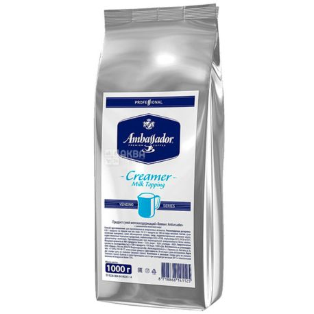 Ambassador Creamer Milk, 1 кг, Сливки-топпинг Амбассадор, сухие