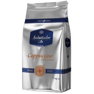 Ambassador Cappuccino Ice Cream, 1 кг, Напиток капучино растворимый Амбассадор Айс Крем