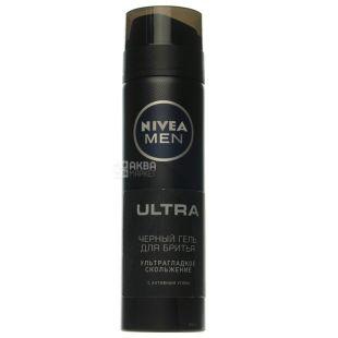 Nivea Men Ultra Чорний з активним вугіллям, Гель для гоління, 200 мл