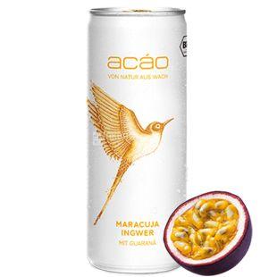 Acao Passion Fruit Ginger, Энергетический напиток, 250 мл