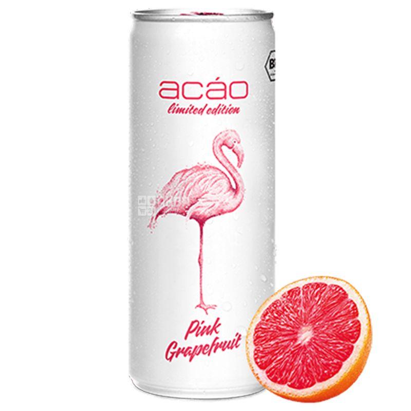Acao Pink Grapefruit, 0,25 л, Напиток энергетический Пинк Грейпфрут