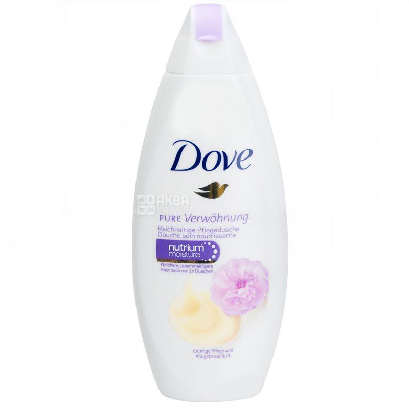 Dove Вершкова ваніль і півонія, Крем-гель для душу для усіх типів шкіри, 250 мл