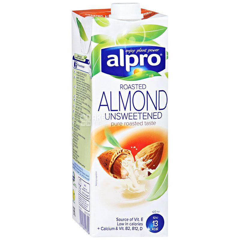 Alpro Almond Unsweetened, 1 л, Алпро, Мигдалеве молоко без цукру та лактози, вітамінізоване