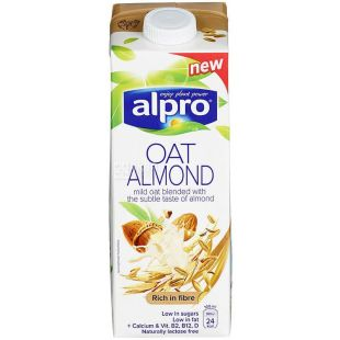 Alpro Almond and Oat, Alpro almond milk, oat, 1 l
