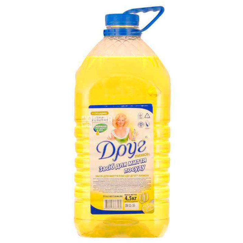 Dishwashing liquid, lemon, 4.5 l, TM Friend
