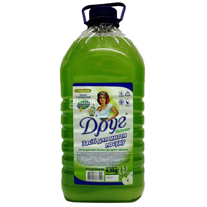 Dishwashing liquid, apple, 4.5 l, TM Friend