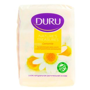 Duru Nature's Treasures, Мило зволожуюче з екстрактом ромашки, 75 г, упаковка 4 шт.