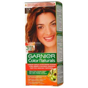 Garnier Color Naturals, Крем-краска  для волос, Оттенок №6.34, Карамель, 110 мл