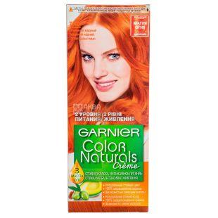 Garnier Color Naturals, Крем-краска для волос, Оттенок Огненный медный, №7.40, 110 мл