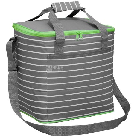Cooler bag TE-1518, 18 l, colored strip, TM Time Eco