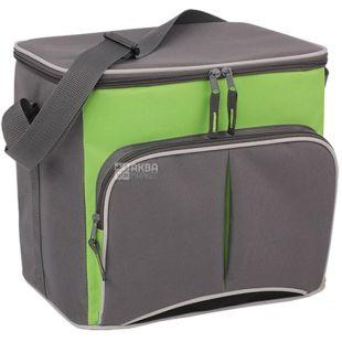 Сумка-холодильник TE-1520, 20 л, салатово-сіра, ТМ Time Eco