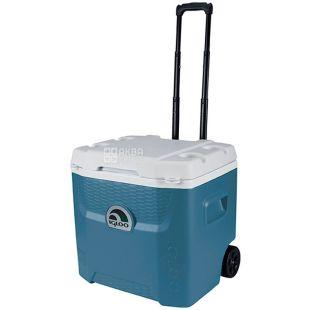 Изотермический контейнер с колесами, Maxcold Quantum, синий, 49 л, ТМ Igloo