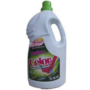 Sailor Color 2 в 1, Гель-концентрат для прання з ополіскувачем, 4 л