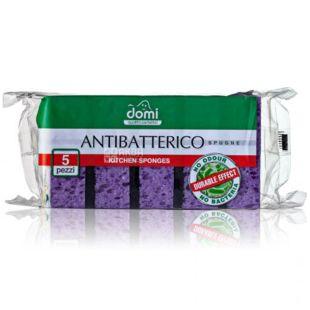 Губки кухонні, антибактеріальні, 5 шт, ТМ Domi